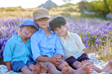 Family photography at folsom lake, lupine flowers