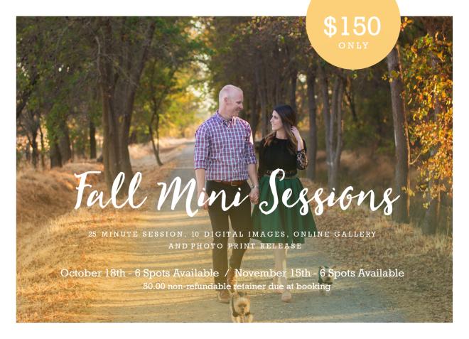 Fall Mini Sessions areback!!!!